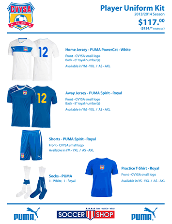 All orders and payments should be made with Soccer Shop in Winston Salem.  For uniform orders 59d4fa730